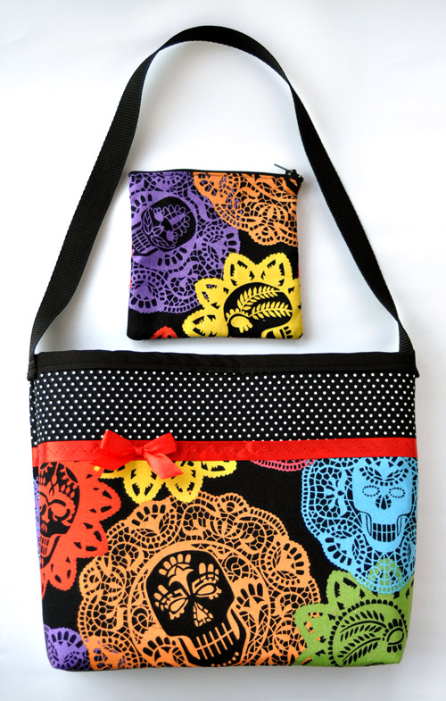 Papel Bonito Skulls and Polka Dots Purse Set