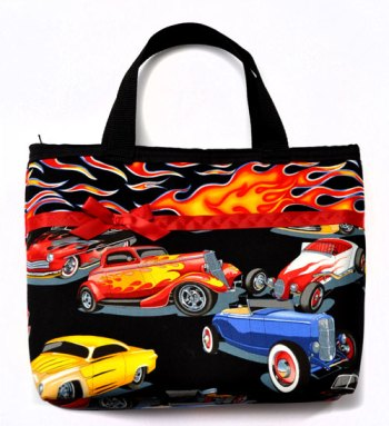 Hot Rods & Flames Purse - front view
