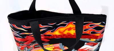 Hot Rods & Flames Purse - top view
