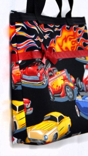 Hot Rods & Flames Purse - side view