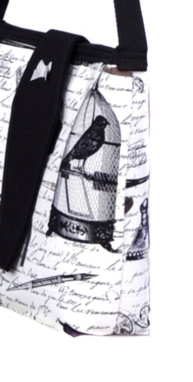 Edgar Ravens and Poetry Purse with Coffin Flap - side view